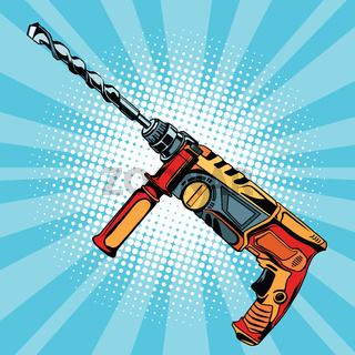 Electric hammer drill is a professional tool for building