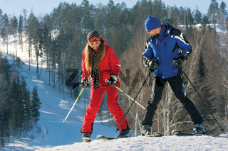 Learning to ski.
