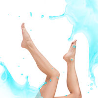Design of young woman body with clean water splash