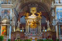 Altar of church. Rome, Italy