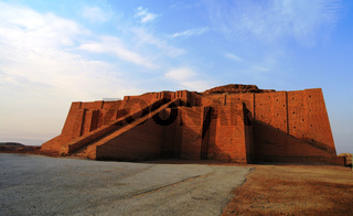 Restored ziggurat in ancient Ur