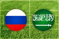 Russia vs Saudi Arabia football match