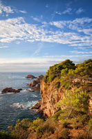 Costa Brava coastline of Mediterranean Sea (Balearic Sea) in Catalonia