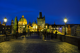 Charles bridge in the evening