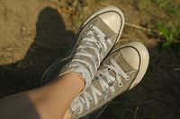 Pair of old trainers