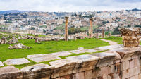 view of Jerash city and ancient Gerasa town