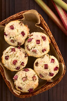Rhubarb Yogurt Muffins