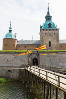 Drawbridge at the moat to the Kalmar castle