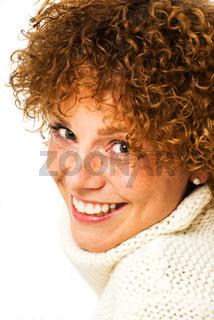 Fröhliche Frau