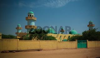 Exterior view to Grand mosque of Zinder , Niger