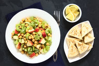 Chickpea, Celery, Grape and Apple Salad
