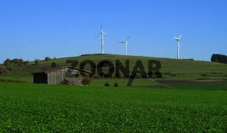 Windkraftanlage auf der Schwaebischen Alb