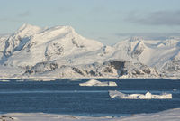 view of the coast of the Antarctic Peninsula from located next islands