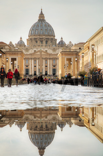 The Papal Basilica of St. Peter in the Vatican city
