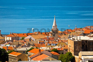 Town of Senj rooftops and waterfront