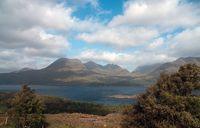 View to scottish mountain