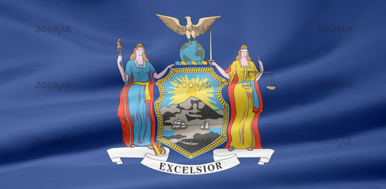 Staat New York Usa Flagge Von New York Usa