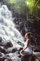 Yoga on the waterfall