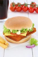 Fischburger Fisch Burger Backfisch Hamburger Cola Getränk