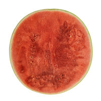 isolated watermelon cut section