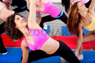 female doing aerobics exercise