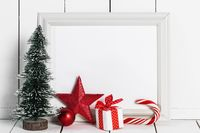Picture frame and Christmas decor