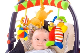 Baby carrier and toys