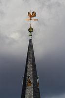 Blick auf die Kirche von Ulzigerode Harz Blitzschutz Kirchturm