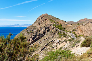 Cartagena mountains and Mediterranean Sea. Spain