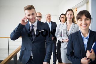Gruppe Geschäftsleute als Business Team