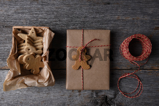 Christmas Presents with a box of Holiday Shaped Cookies