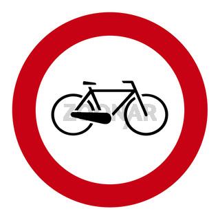Fahrradverbotsschild