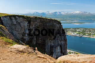 View of the mountains in Tromso, Norway