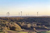 wind farm around Einkorn near Schwaebisch Hall