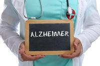 Alzheimer Vorsorge krank Krankheit gesund Gesundheit junger Arzt Doktor