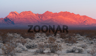 Providence Mountains Fountain Peak Mojave Desert Landscape