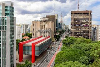Avenida Paulista on a cloudy day