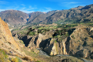 View of Colca Canyon in Peru