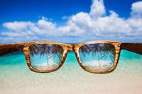 Sea view through sunglasses