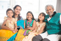 Indian family of five