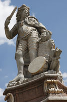 Eberhard Ludwig, Brunnenfigur auf dem Marktplatz