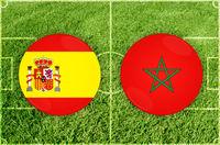 Spain vs Morocco football match