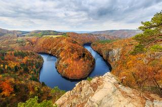 vltava river bend near Krňany