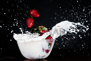 Strawberries in the cream