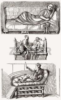 Ancient Roman beds