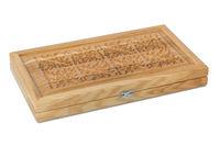 Wood casket for backgammon