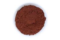 Kakao Pulver Kakaopulver von oben isoliert freigestellt Freisteller