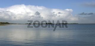Coastline panorama in Lemvig, Denmark