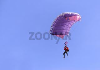 Purple parachute
