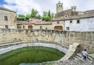 View of historic cistern in  Trujillo old town, Spain